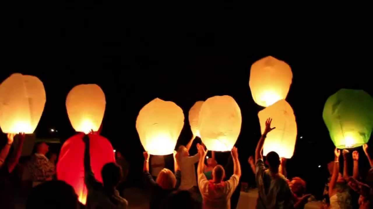 Wedding Videography - Sky Lantern Release (clip 1 of 2) - YouTube