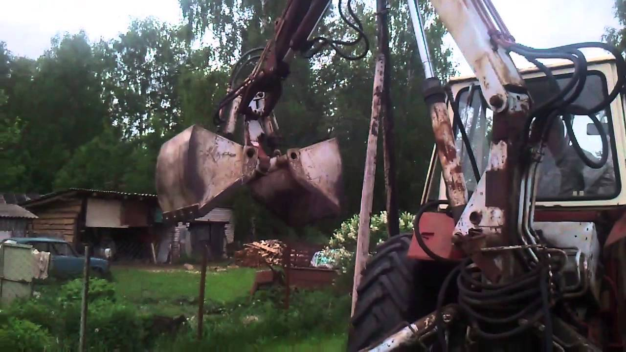 Грейферный ковш ЮМЗ - YouTube
