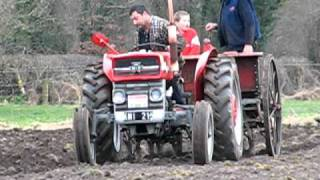 vintage tractor ( ballymurphy club ) ploughing & sowing spring barley march 2011  Ireland
