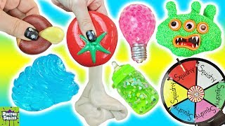 Wheel Of Squish! Cutting Open Tomato Squishy! Making Sand Slime!  Doctor Squish thumbnail
