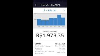 😱💣💥FAZENDO AO VIVO R$ 1900.00 POR SEMANA NA UBER😱💣💥 (domingo 08.10)
