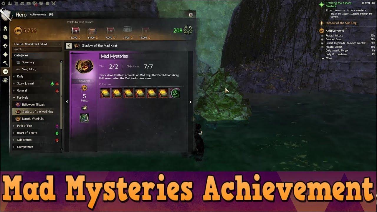 Gw2 Halloween 2020 Achievement GW2 Path of Fire   Halloween Mad Mysteries Achievement Guide   YouTube