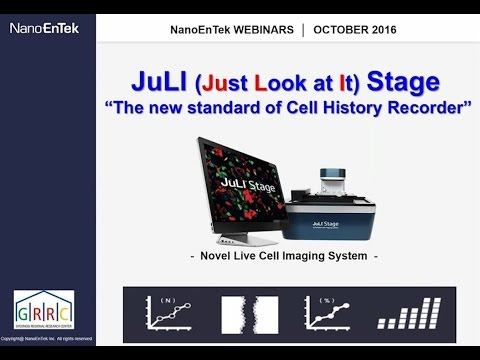 """2016 4th Webinar """"Easy, simple, and convenience, it's JuLI STAT(Cell analysis software)"""""""