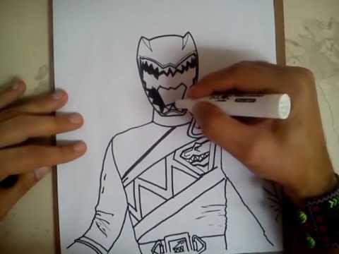 Hướng Dẫn Vẽ Siêu Nhân Khủng Long Sấm Sét - Tập Vẽ Siêu Nhân