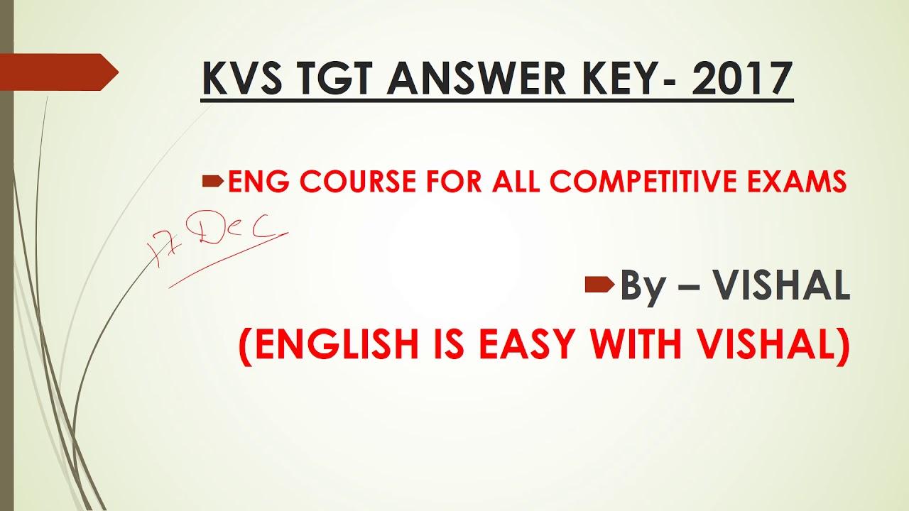 #10 Kvs North East TGT solved answer key paper 2017 Part 1 ...
