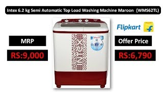 Intex 6.2 kg Semi Automatic Top Load Washing Machine Maroon (WMS62TL)
