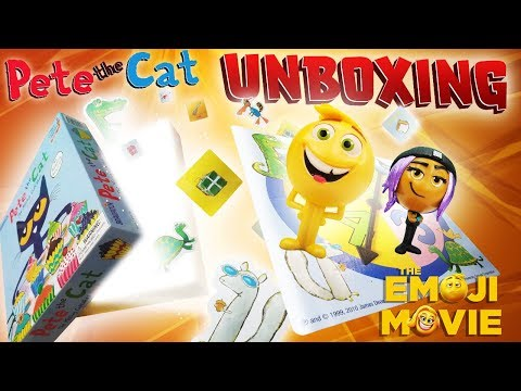 Thumbnail: Unboxing Pete The Cat Game with Emoji Movie's Gene & Jailbreak! Learn Colors, Numbers & Letters!