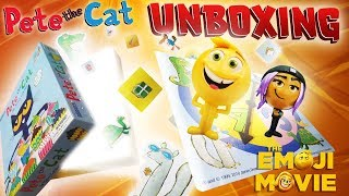 Unboxing Pete The Cat Game with Emoji Movie