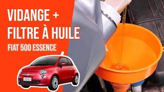 [ 🛠 TUTO 🛠 Fiat 500 ESSENCE ] Vidange et remplacement du filtre à huile 🛢