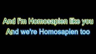 Homosapien - Karaoke version