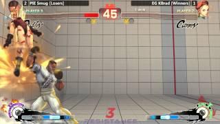 USF4 @ Resistance 3 - PIE Smug (Dudley) vs EG KBrad (Cammy) - Grand Finals