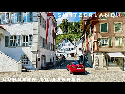 From Lungern to Sarnen | Beautiful Road in Switzerland🚘| magnificent Lungern and Sarnen Lakes