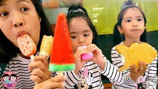 หนูยิ้มหนูแย้ม   กินไอติมญี่ปุ่น 5แบบ Japanese Ice Cream
