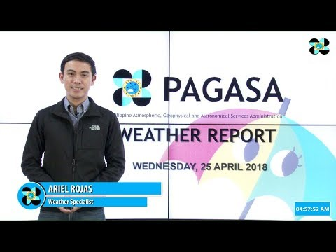 Public Weather Forecast Issued at 4:00 AM April 25, 2018