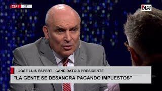 """José Luis Espert en """"LNE"""" con L.Novaresio, por A24 el 11 de Marzo de 2019"""