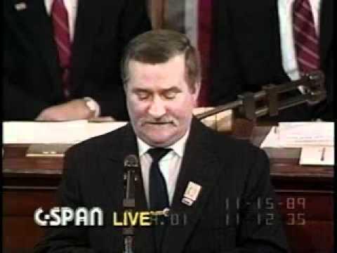 Lech Walesa - Legendary 1989 Speech in U.S. Congress