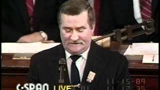 Lech Walesa - Legendary 1989 Speech in U.S. Congress
