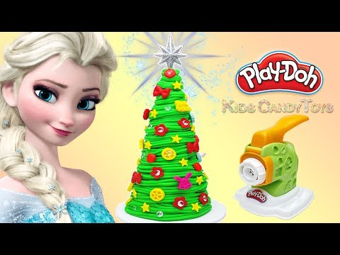diy-spaghetti-christmas-tree-pasta-ornaments|-play-doh-noodle-making-machine