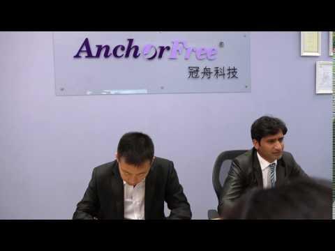International Negociation & Sales with Paskistan customer(beijing anchorfree)