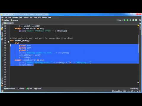 Python Reverse Shell Tutorial - 2 - Binding the Socket and Listening for Connections