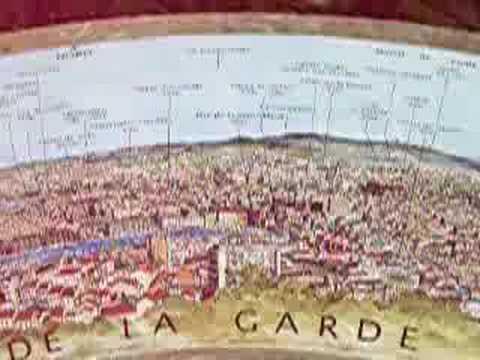 Map of View from Basilique Notre Dame de la Garde, Marseille