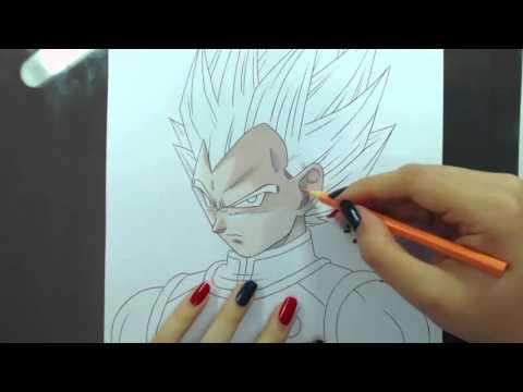 Speed Drawing - Vegeta SSGSS (Dragon Ball)