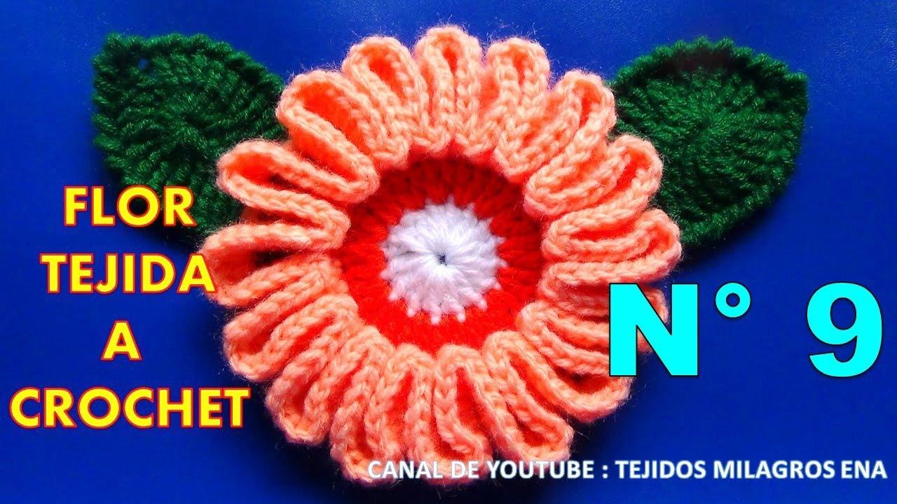 Flor Tejida A Crochet Facil Y Rapido Para Tejer Bolsos Paso A Paso