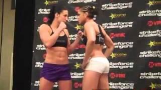 Julia Budd vs. Amanda Nunes epic staredown
