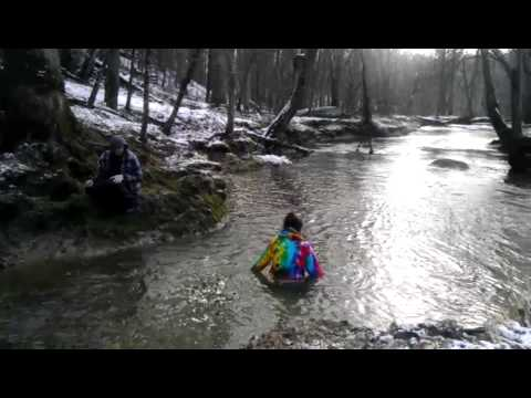 Girl jumps in freezing water