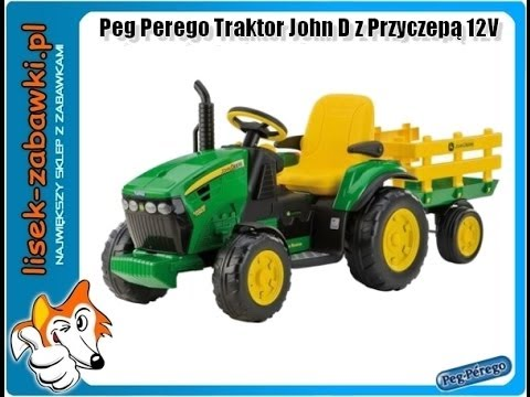 traktor peg perego john deere aku 12v spielzeug f r kinder. Black Bedroom Furniture Sets. Home Design Ideas