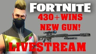 FORTNITE LIVESTREAM 430 WINS | PRO BUILDER | VBUCKS GIVEAWAY | NEW HEAVY SNIPER | BATTLE ROYALE
