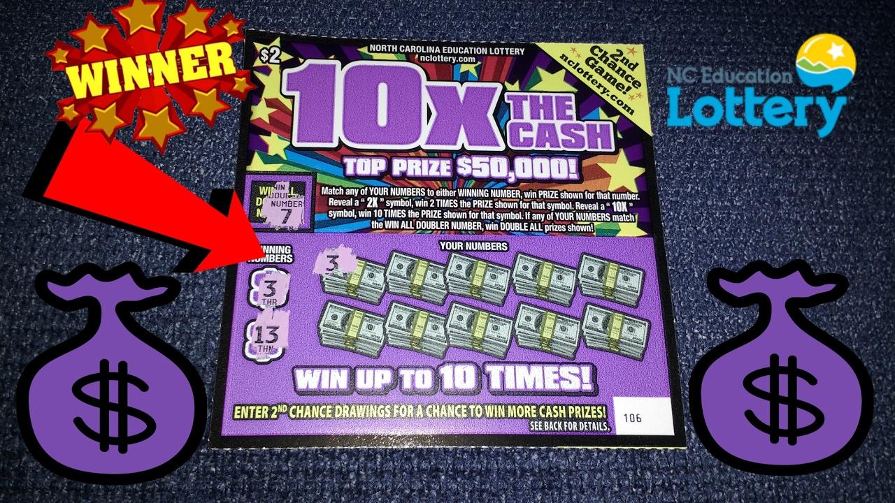 WINNER! 10x THE CASH NC LOTTERY