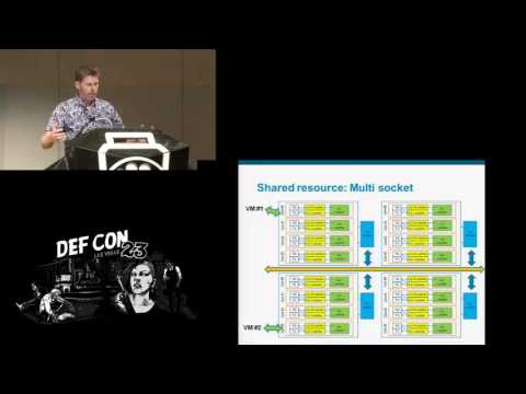 DEF CON 23 - Etienne Martineau -  The art of cache timing covert channel on x86 multi core