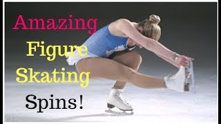 Amazing ice skating spins - Part 1