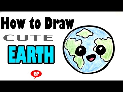 How to draw a globe cute easy pictures to draw youtube