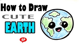 How to Draw a Globe (Cute) - Easy Pictures to Draw