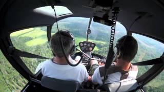 Учебно-развлекательный полёт на вертолете Robinson R44(, 2013-06-28T09:02:18.000Z)