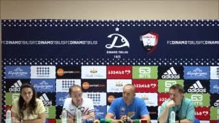 Dinamo(Tiflis)-Qəbələ / oyun öncəsi mətbuat konfransından görüntülər