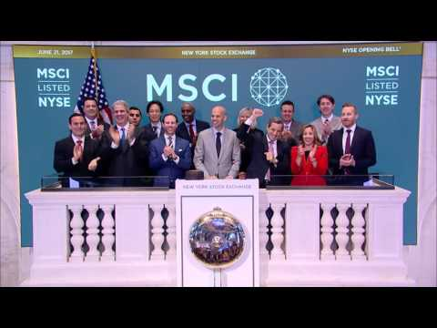 MSCI Inc. opening bell at NYSE