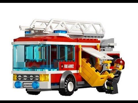 lego city le camion de pompier jouet pour les enfants. Black Bedroom Furniture Sets. Home Design Ideas
