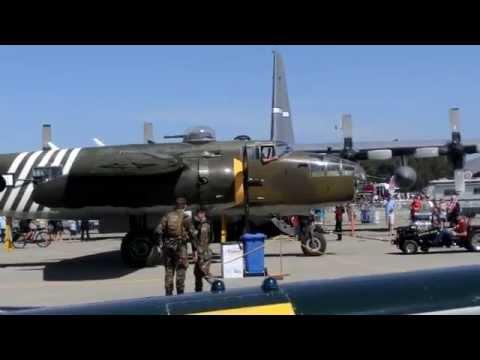 "WWII Japanese Nakajima B5N1 ""Kate"" torpedo bomber & B-25 CA Airshow"