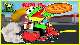 Roblox Bloxburg PIZZA DELIVERY Let's Play with Gus the Gummy Gator