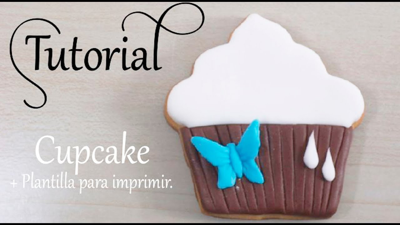 cupcake y molde para imprimir youtube