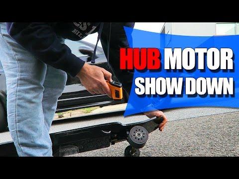 electric skateboard hub motor comparison test