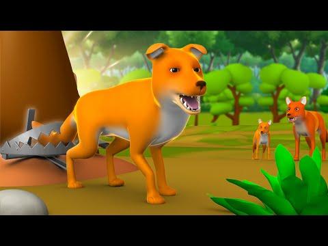 Lomdi ki Kati Poonch 3D Animated Hindi Moral Stories for Kids लोमड़ी की कटी पूंछ हिन्दी कहानी Tales