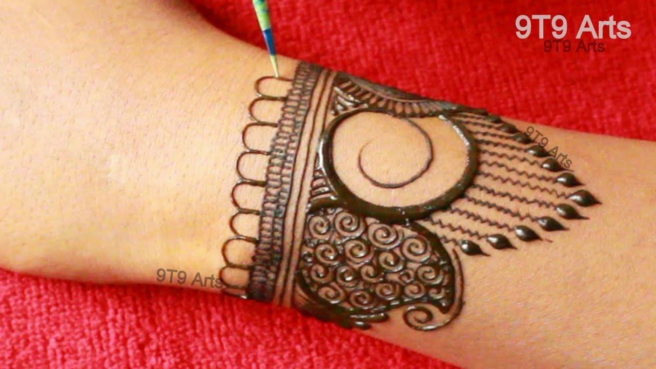 Karva Chauth Special Negative Space Check Mehndi Design | Semi Bridal Henna | Dulhan Mehandi Designs