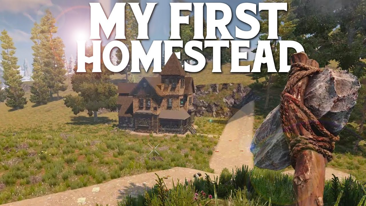 BUILDING My FIRST HOME - 7 Days To Die #2