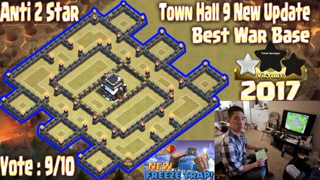 Th war base anti star . Town Hall New Update Clash Of