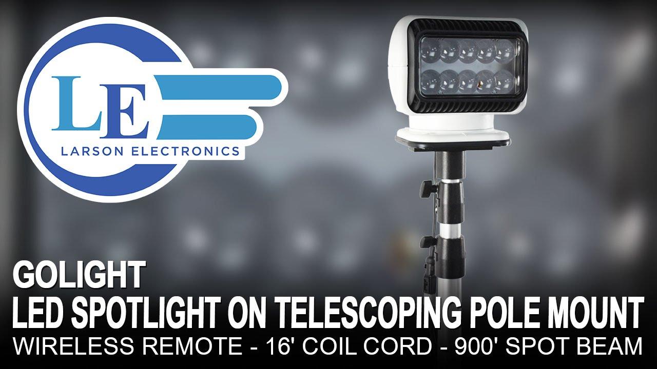 golight led spotlight on telescoping pole mount wireless. Black Bedroom Furniture Sets. Home Design Ideas