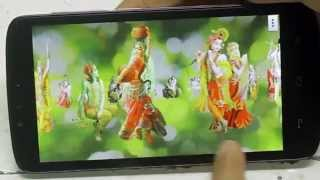 Radha Krishna Free animated 4D Mobile App, Live Wallpaper